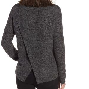 Madewell | Gray Province Cross Back Knit Pullover